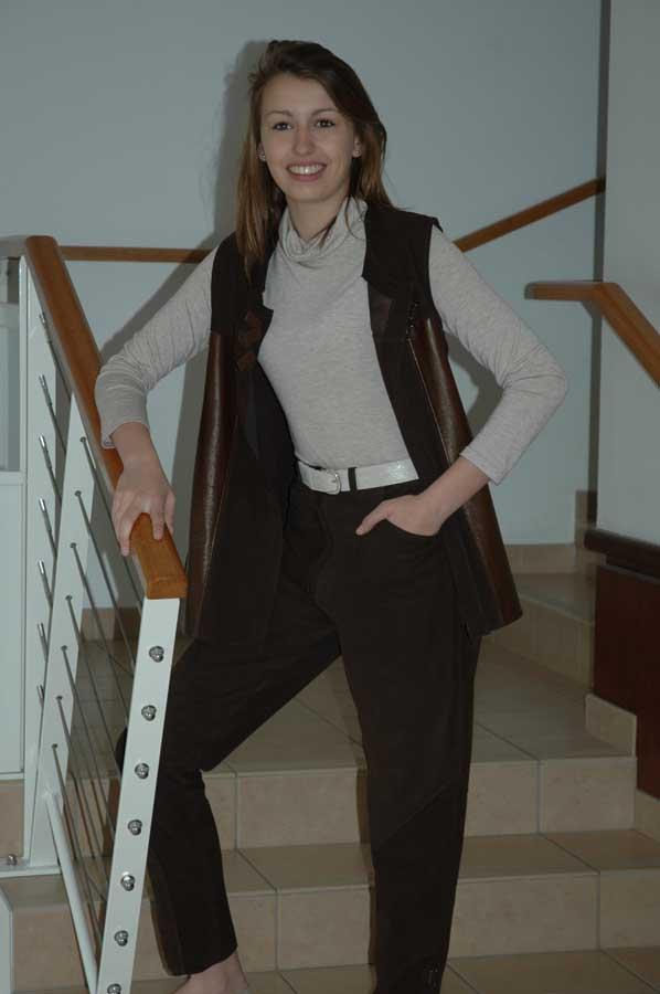 vetements cuir et creation gilet et pantalon