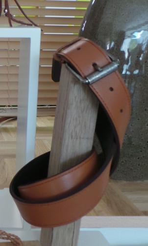 Ceinture cuir marron - Cuir et création