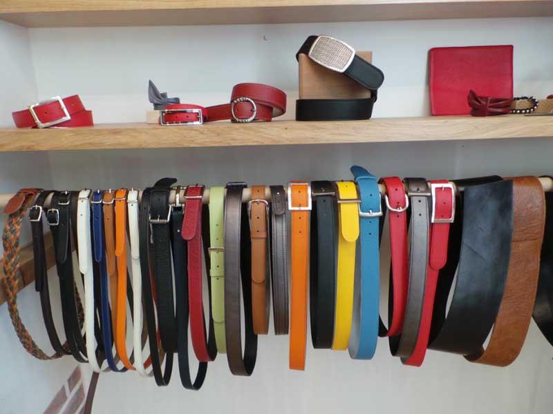ceintures cuir différents coloris