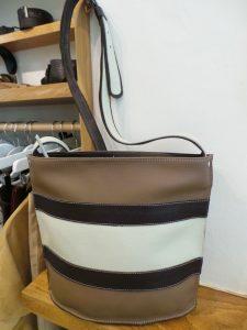 Sac en cuir tricolore - Sacha - Cuir et Création