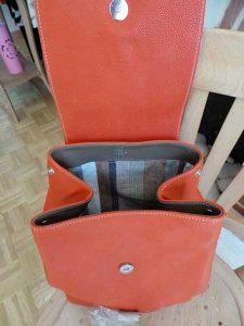 Intérieur sac à dos en cuir - version mousqueton