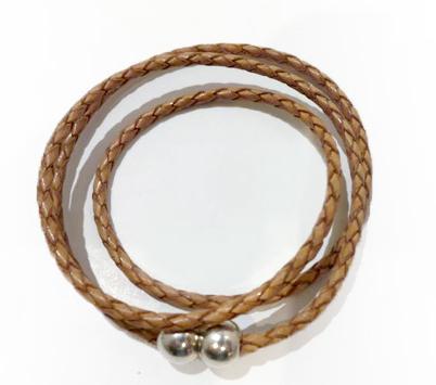 Bracelet tressé - Cuir et Création
