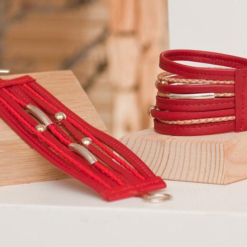 Bracelet Manchette - Cuir et Création