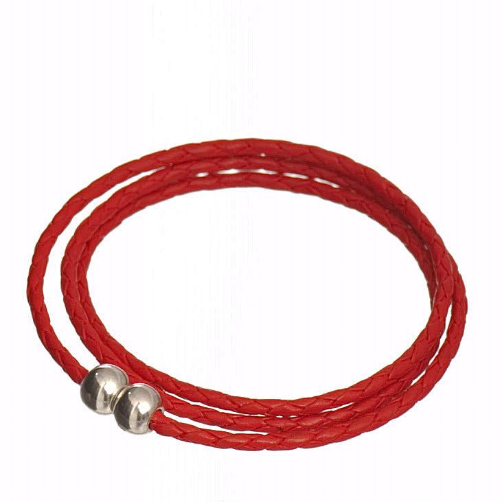 bijou bracelet triple lien tresse cuir et creation