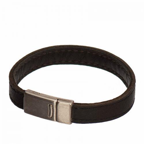 Bracelet Homme bande cuir 10mm double cuir et creation